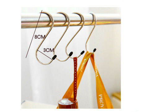 "4 Pieces Home&Kitchen Hangers Portable Stainless Steel ""S"" Hooks Organization(China (Mainland))"