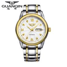 Original GUANQIN Watches Men Automatic Mechanical Top Brand Luxury Waterproof Luminous Men's Watch Wristwatches Free Shipping