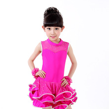 Buy Children Latin Dance Clothing Girls Salsa Dance Costume Kids Competition Ballroom Dance Dresses Stage Performance 89 for $19.62 in AliExpress store