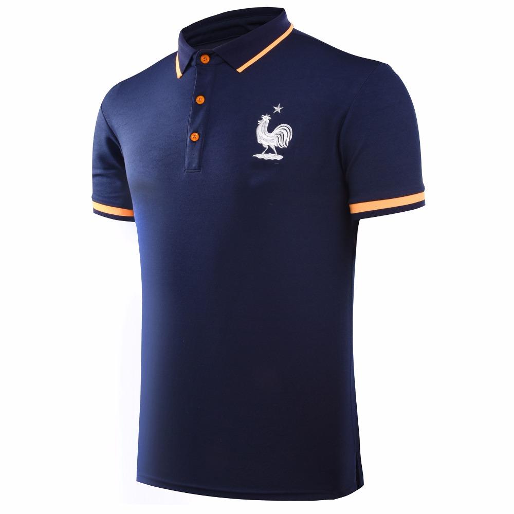 Summer France Portugal football polo European Soccer football team Training polo shirt(China (Mainland))