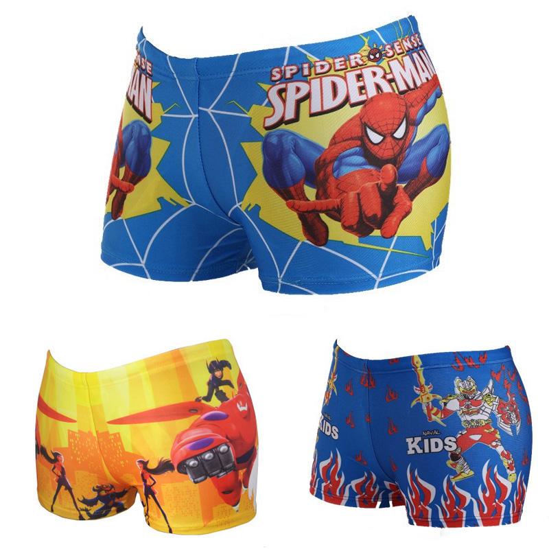 2016 Baby Boys Spiderman Swimwear Summer Kids Swimming Trunks Children Beach Bathing Swimsuit Character Swim Short