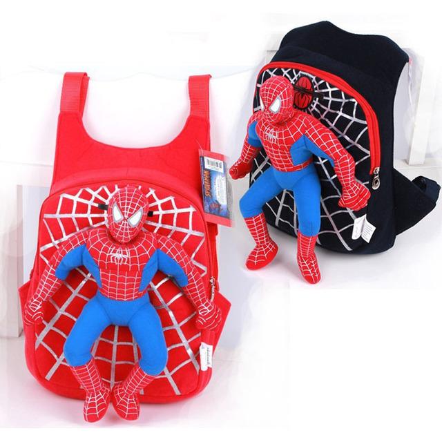 2015 новые дети милые 3d-паук рюкзак школьный для мальчиков девочек мультфильма человек ...