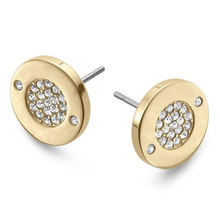 Hot Sale Famous Brand Classic Round Letter Crystal Jewelry For Women Gold Silver And Rose Gold Kors Stud Earrings Wholesale(China (Mainland))