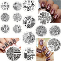 1piece New Nail Art Stainless Steel Plate Image Stamp Stamping Plates DIY Manicure Template Nail Polish Tools #NC060