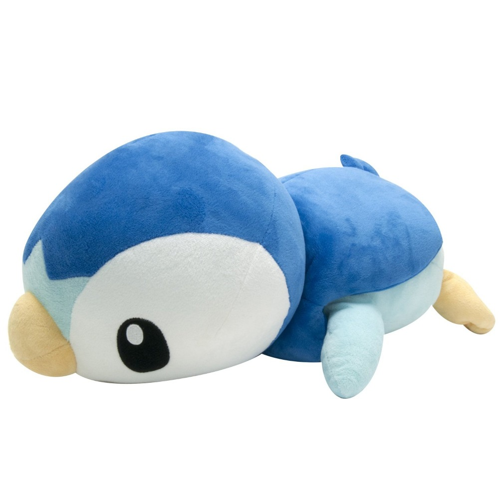 Takaratomy Pokemon Lying Down Pochama/Piplup Diamond and Pearl Plush, 17-Inch,Without the original packaging<br><br>Aliexpress
