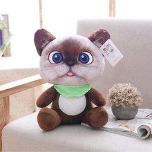 20 centímetros Bonito Macio 3D Simulação Brinquedos De Pelúcia Do Gato Duplo-side Assento Do Sofá Travesseiro Almofada De Pelúcia Kawaii Animais Gato bonecas Brinquedos Presentes(China)