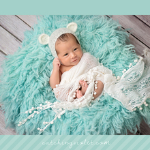 Newborn Mohair Ear bear bonnet-Baby knit mohair bonnet for photograpy props choose your color(China (Mainland))