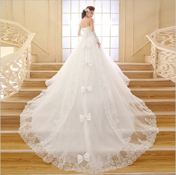 2015 best selling wedding dress ball gown train sweetheart for Cinderella wedding dress up
