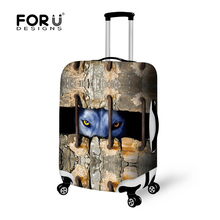 2016 Fashion Animal Printing Luggage Covers for 18-28 Inch Suitcase Animal Travel Accessories Elastic Luggage Protector Cover(China (Mainland))