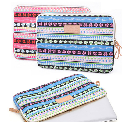 2015 new arrival red blue striped Notebook Bag soft laptop Sleeve Case For macbook air pro universal 11.6 12 13.3 14.1 15.6(China (Mainland))