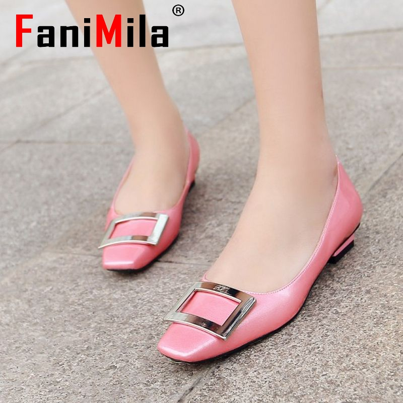 lady square toe real genuine leather ballet flat shoes women sexy spring fashion quality footwear brand shoes size 34-39 R08551<br><br>Aliexpress