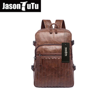 JASON TUTU 2016 promotions Leather backpack /14/15 inch laptop PU black backpack/school back pack B222 - FireBird Man Bags store