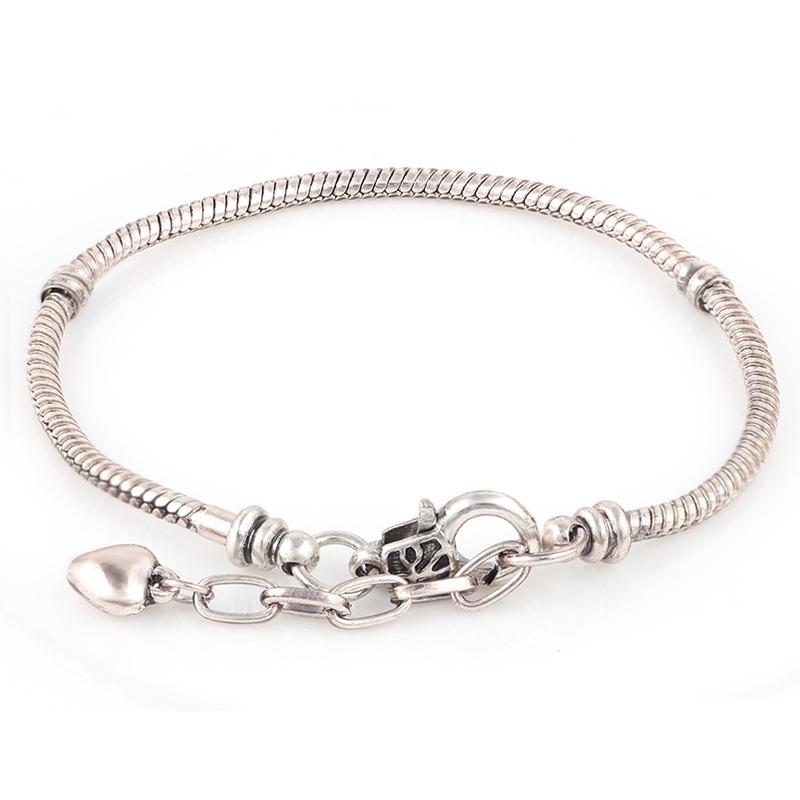 diy bracelets 18k sliver snake chain chamilia fit for