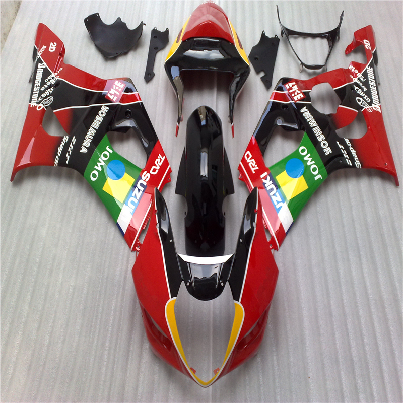 ABS Plastic Motorcycle Parts For Suzuki GSXR 1000 K3 K4 2003 2004 03 04 Injection Mold Red Black Fairing Kit(China (Mainland))