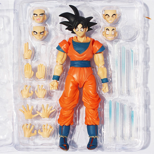 Anime Dragon ball z Toy Figure Goku Figures Son goku PVC Action Figure Chidren Favorite Gifts 15cm Approx Retail Shipping(China (Mainland))