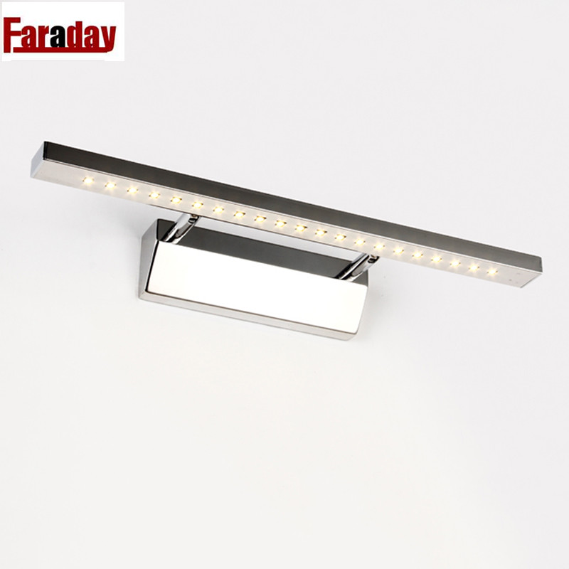 FREE SHIPPING 7w Stainless Steel Surface Wall Mount Led Bathroom Lighting Modern Mirror Light Fixture In Washroom 220v от Aliexpress INT