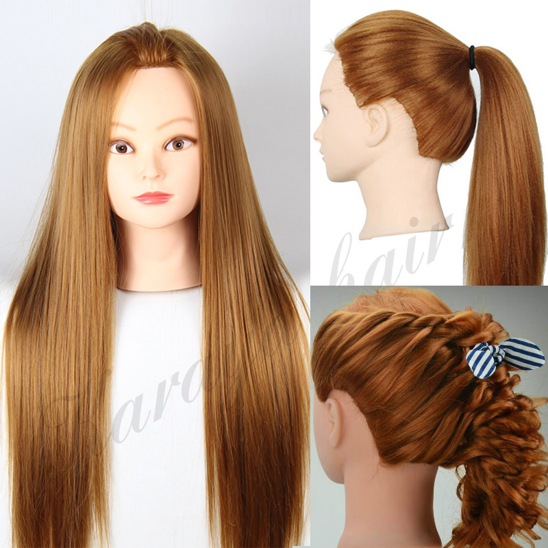 head with Synthetic hair free gifts hairdressing female Doll Heads ...