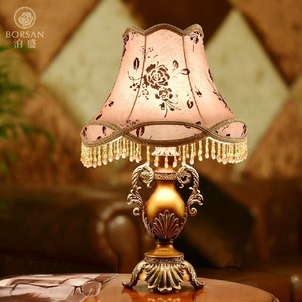 e27 led fashion vintage bedside lamp 110v 220v resin lamp