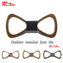 New 2016 Red Xin Brand Fashion Handmade Wood Bow ties Bowtie Butterfly Gravata Ties For Men Hollow out Geometric Wooden bow tie(China (Mainland))