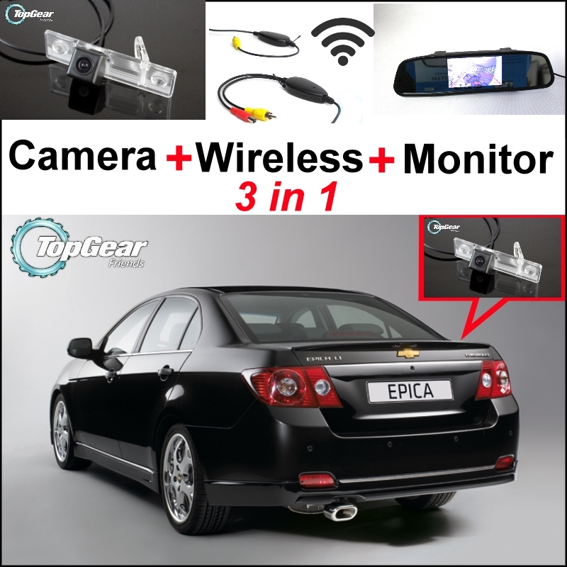 3in1 Special WiFi  Camera + Wireless Receiver + Mirror Monitor EASY DIY Parking System For Chevy Chevrolet Cruze Holden Cruze<br><br>Aliexpress
