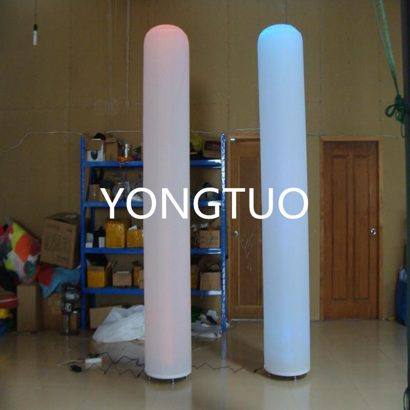 Custom inflatable pillar/inflatable tube/inflatable column with RGB lighting(Black base)(2.5m)(China (Mainland))