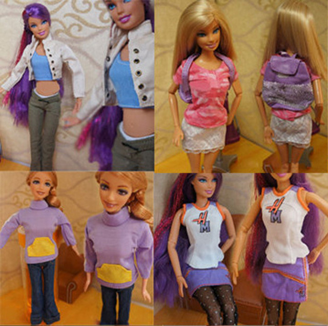 1 pc Fashion Party Daily Wear easy suit Outfits Clothes For Barbie Doll(China (Mainland))