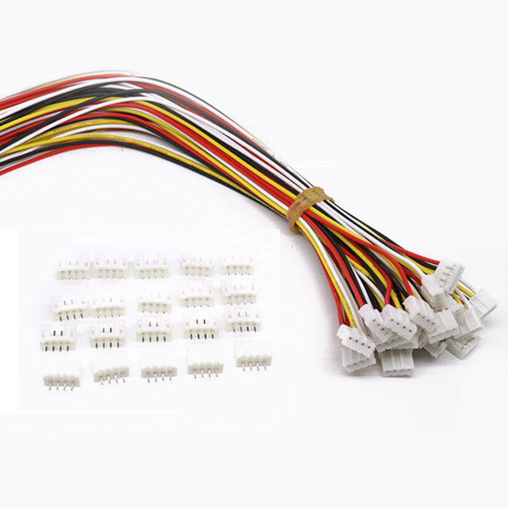 10 Sets Mini Micro Jst 2.0 Ph 4 Pin Connector Plug Male With 150mm Cable & Female(China (Mainland))