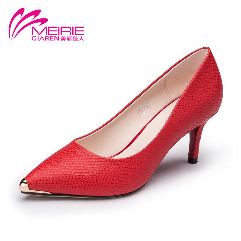 Aokang 2015 Vintage Summer Style Women Shoes Genuine Leather Platform High heel Pumps Thin Heels Wedding Party Ladies Wedge Shoe<br><br>Aliexpress