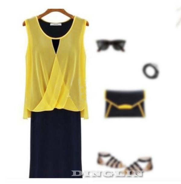Sleeveless Chiffon Blouse Outfit 21