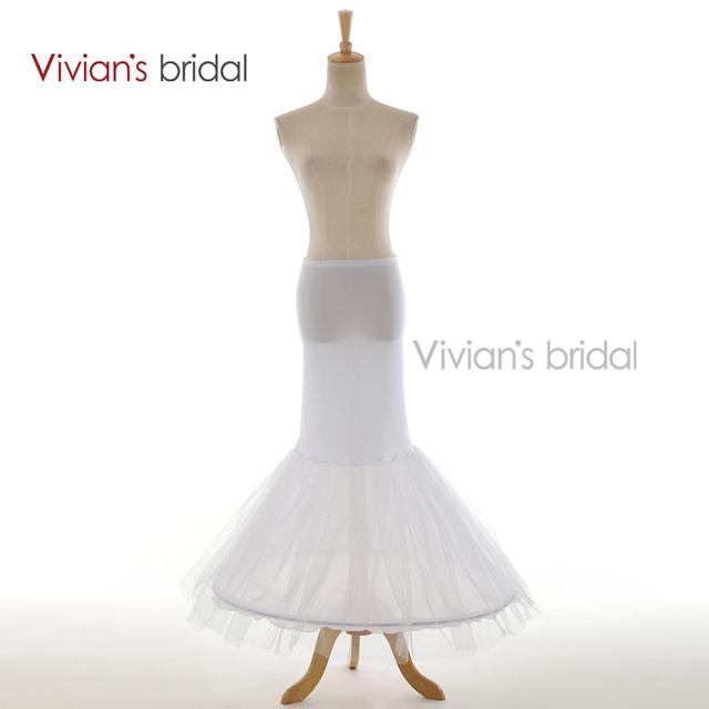 Vivians свадебное дешевые русалка юбка белое нижняя свадебные аксессуары горячая ...