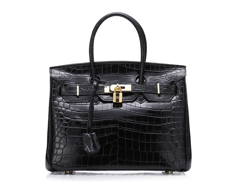 New 2016 Crocodile Pattern Ladies Handbag Fashion Popular Cute 30CM Leather Shoulder bag for Female High Quality Temperament bag<br><br>Aliexpress