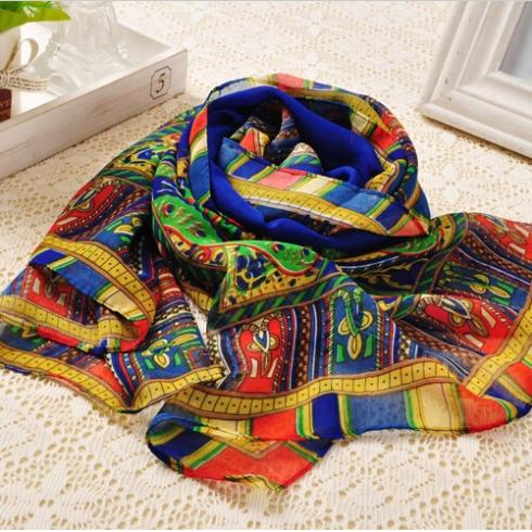 Wholesale 5 Colors Bohemian ethnic style scarves Chiffon scarf lady Tassel Wrap shawl clothing women 2014 free shipping PT35(China (Mainland))