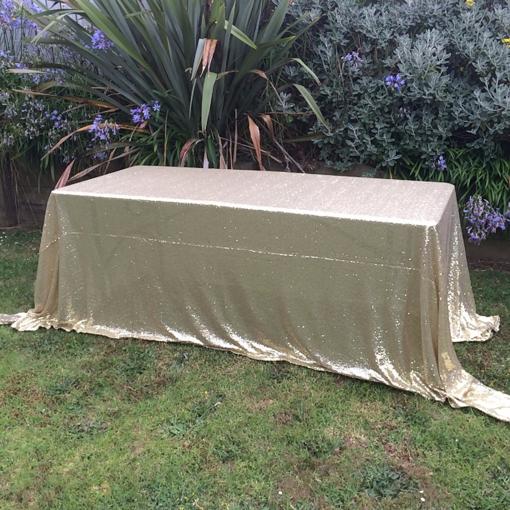 """Sequin Tablecloth Wedding Cake Tablecloth ,Rectangle /square Sequins Table Linen , wedding sequin table linens 50""""X50""""Matte Gold(China (Mainland))"""