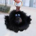 2017 new mink feather gorilla bag pendant fur doll car ornaments key chain fur pendant