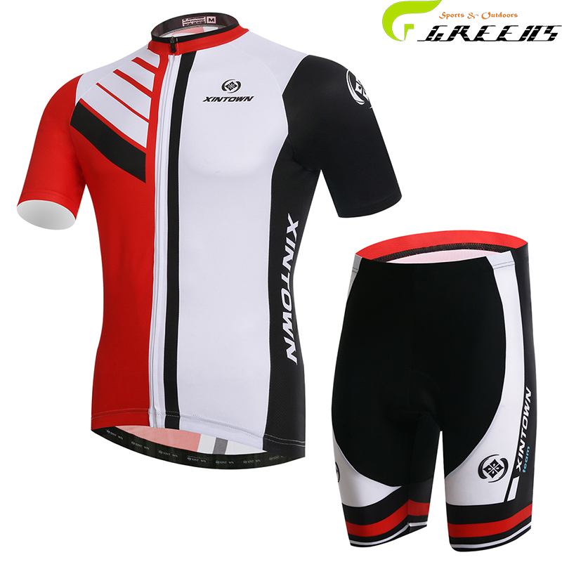 100% Polyester Racing Bike Cycling Clothing MTB Bike Clothes Ropa Ciclismo Breathable Racing Bicycle Cycling Jersey Red white(China (Mainland))