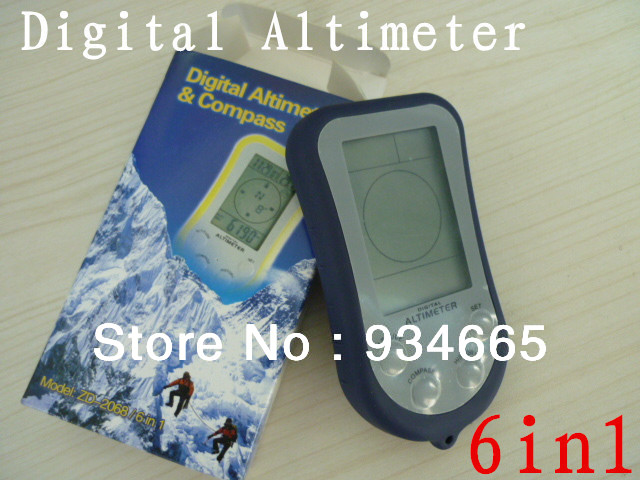 6 1 LCD Digital Compass, Altimeter, Thermometer, Barometer, Weather Forecast, Clock & Calendar - X-Colorful Life store
