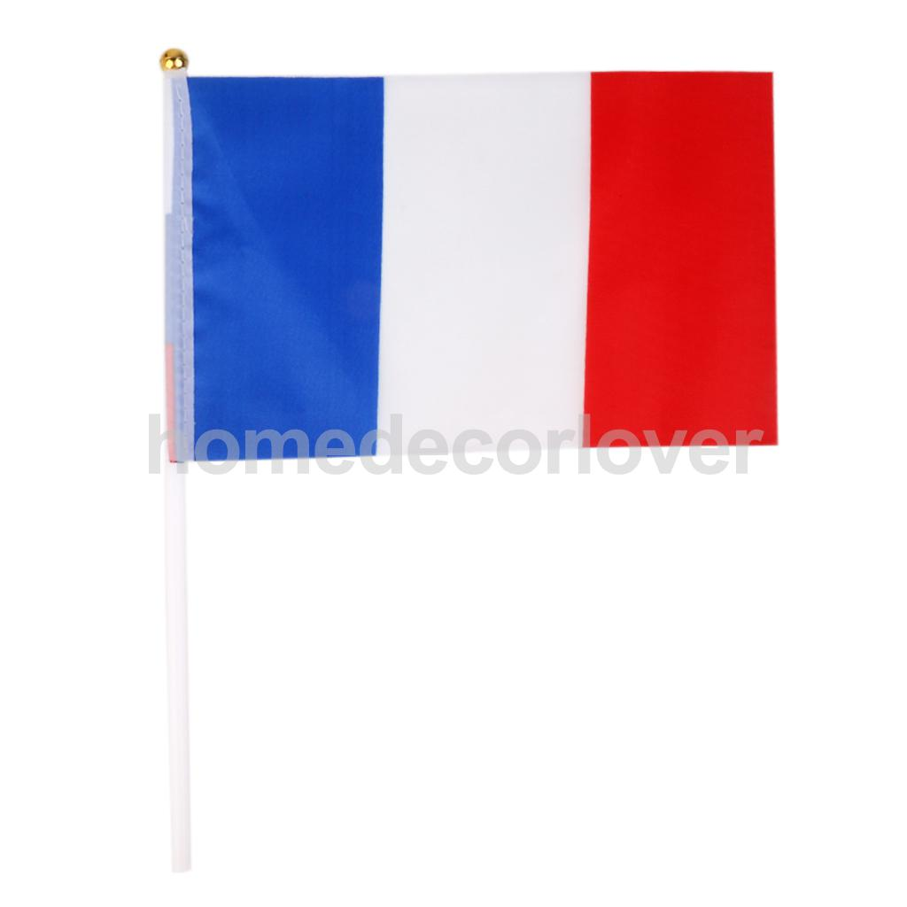 12pcs French Hand Waving Flags National Flag Of France World Cup Olympic NEW(China (Mainland))