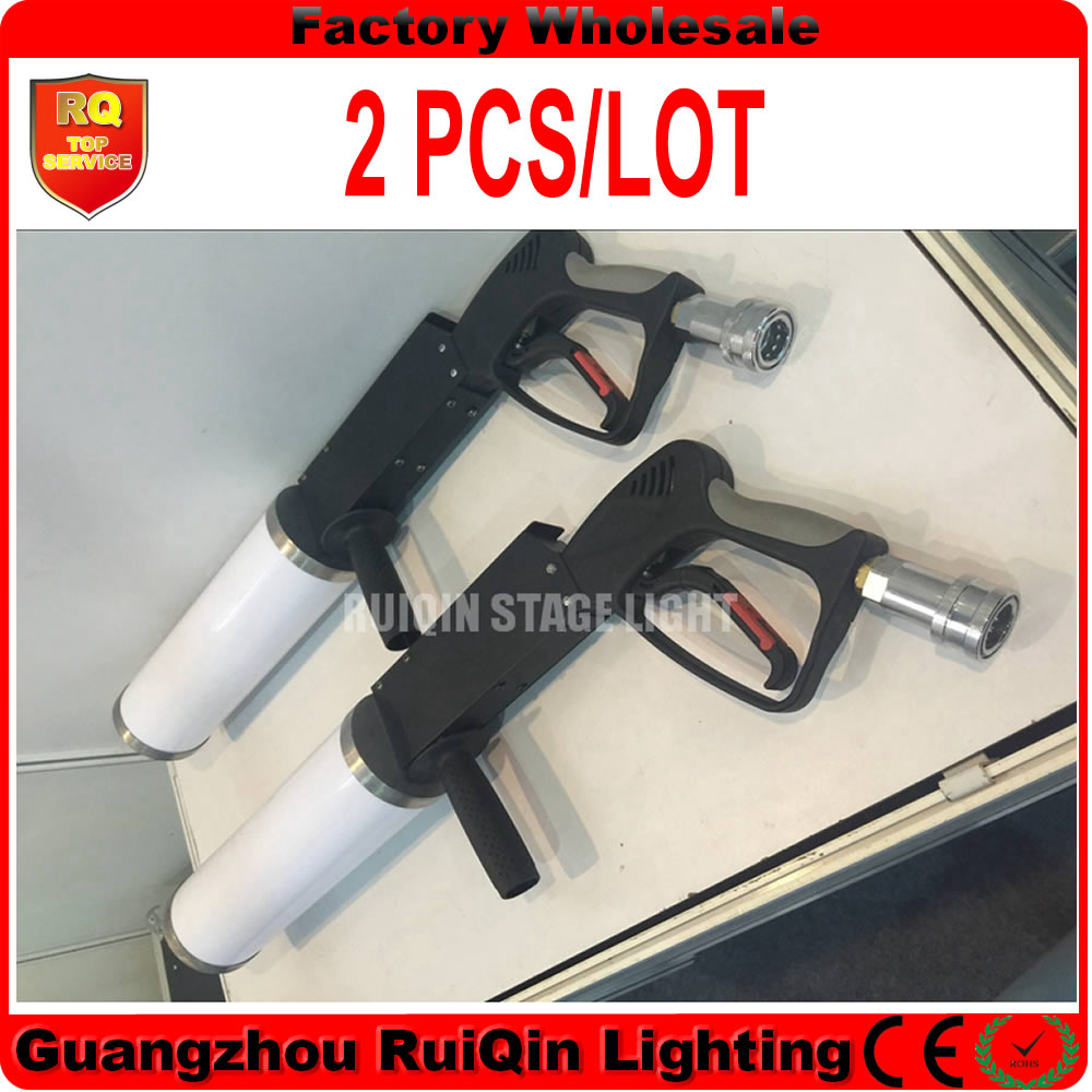 Free shipping 2pcs/lot stage effect light machine led dj gun co2 jet for dj party disco stage club show(China (Mainland))
