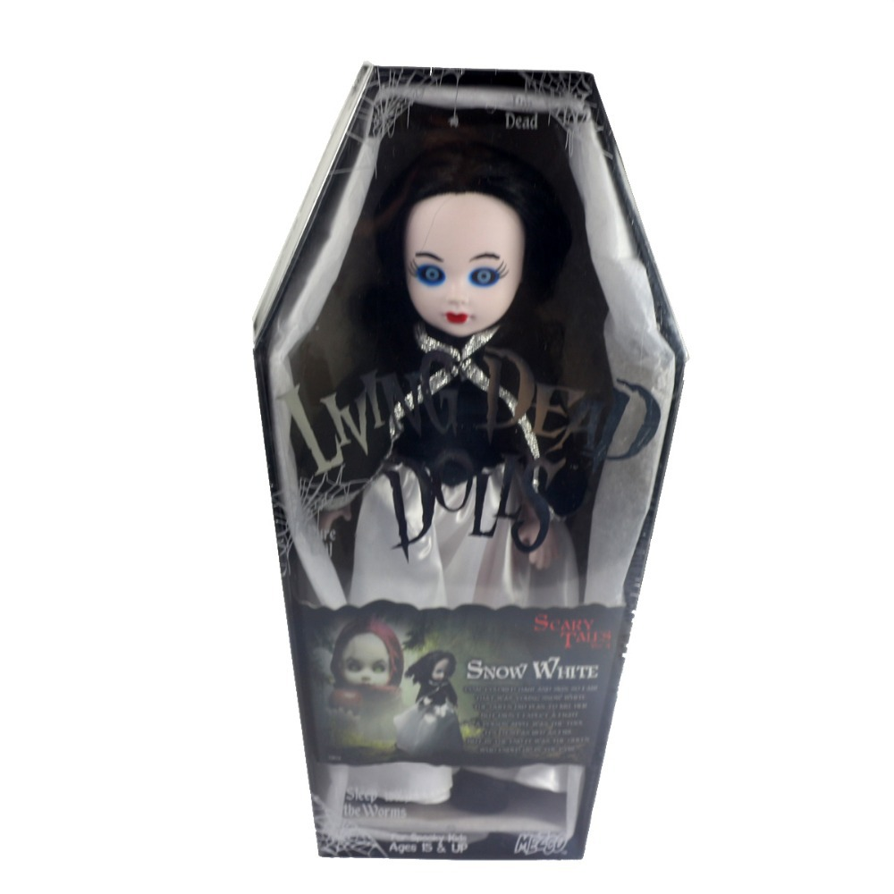 Living Dead Dolls Scary Tales Snow White Evil Black 10 inch Action Figure Doll New Box Halloween Gift - InToyCity store