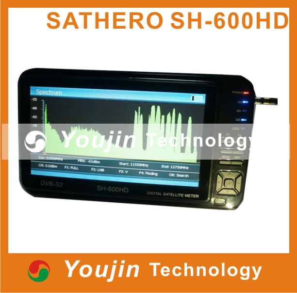 7inch sathero SH-600HD preview screen support HD HDMI 8PSK DVB -S2 digital satellite tv finder Meters - Shenzhen Youjin Technology Co.;Ltd store