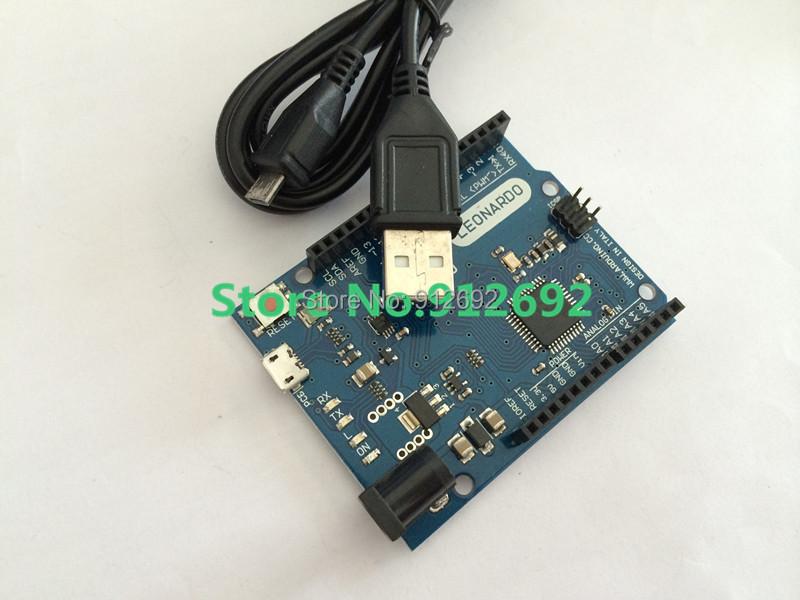 Free shipping ! 10set/lot Leonardo R3 development board + USB Cable for arduino (QFN ATMEGA32U4-MU)(China (Mainland))