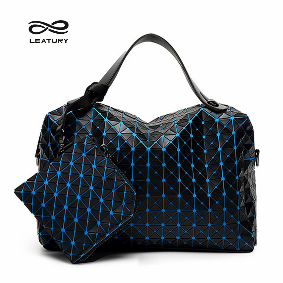 Leatury Ladies Bags Set Woman Tote Bags 2016 Bag Handbag Fashion Handbags Geometric Patchwork Diamond Tote for Party Shopping(China (Mainland))