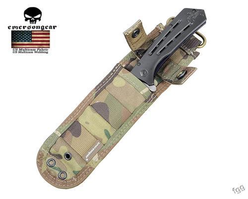 Buy Emerson Knife Pouch with Anti-cut Plate Inside 1000D Nylon Durable Protector Knife Holster Case Bags For Outdoor Hunting Hiking cheap