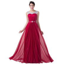 Grace Karin Sexy Red Chiffon A Line Formal Dress Wedding party Gown Floor Length Long Bridesmaid dresses 2016 CL6272(China (Mainland))
