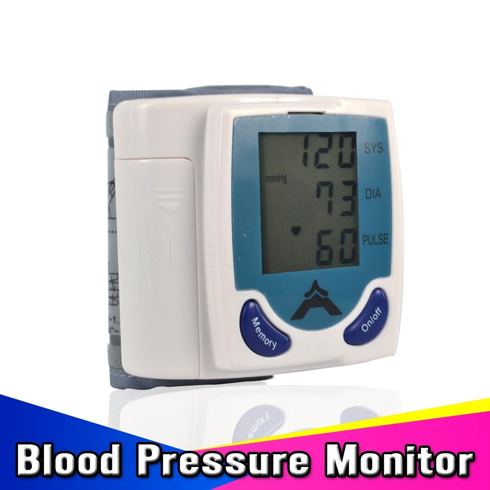 Automatic Digital Wrist BP Blood Pressure Pulse Monitor Sphygmomanometer Portable Health Care Household Pulsometros Test Device(China (Mainland))