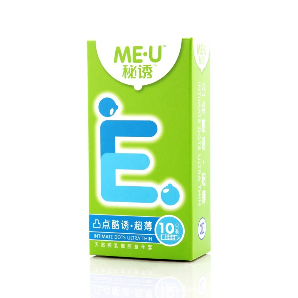Intimate dots ultra thin natural latex condoms Durex me-u condom with particles sex products(China (Mainland))