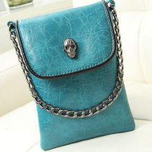 Free shipping fashion Women Messenger Bag PU Leather Envelope Shoulder Crossbody Bag Vintage Small Clutch Bag(China (Mainland))