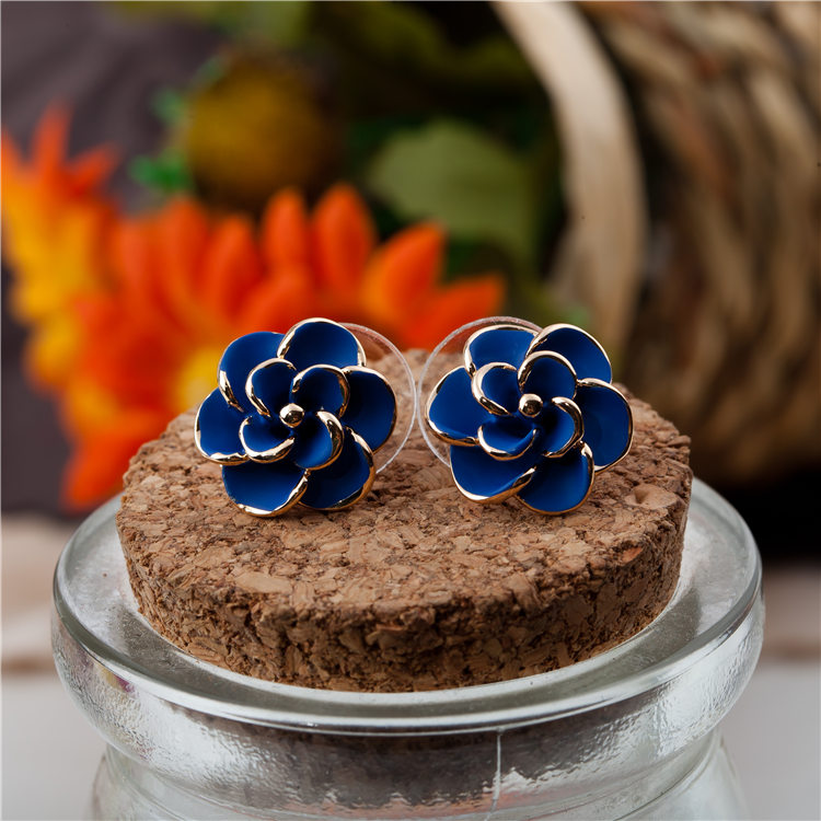 Exquisite paint colored drawing earrings high quality flower earring accessories(China (Mainland))