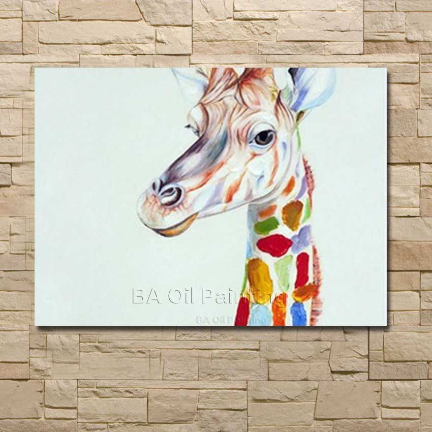BA Oil Painting Pictures Professional Factory Skilled Painter Handmade Deer Oil Painting On Canvas Paintings no Framed Art(China (Mainland))