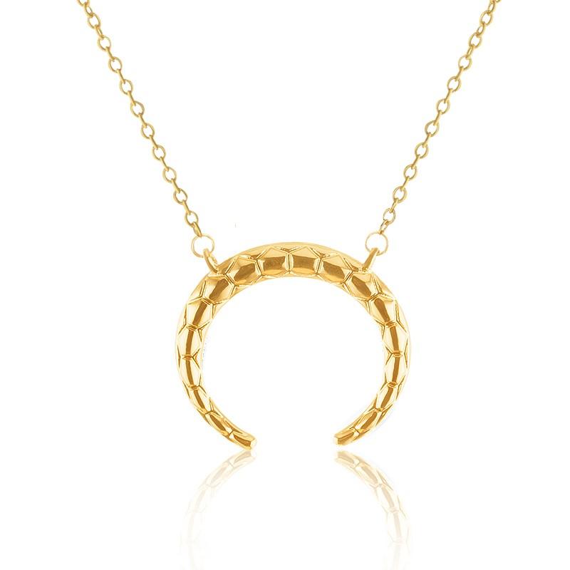 Black Gun Plated Bijoux Femme Women Men Gothic Jewelry Boho Chic Simple Cool Horn Necklaces & Pendants Gold Silver - Show store